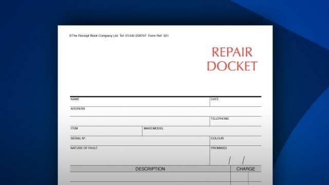Repair Docket Books